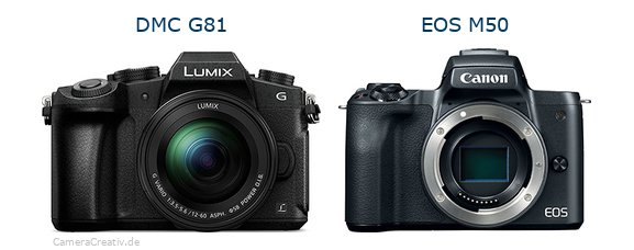 Panasonic dmc g 81 vs Canon eos m50