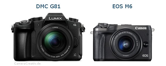 Panasonic dmc g 81 vs Canon eos m6