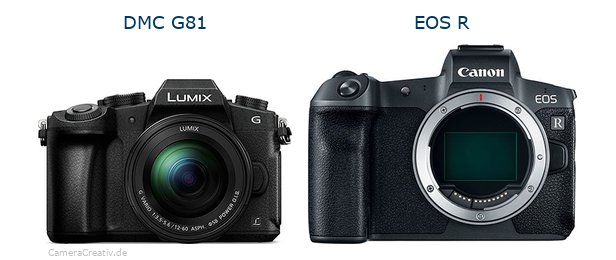 Panasonic dmc g 81 vs Canon eos r