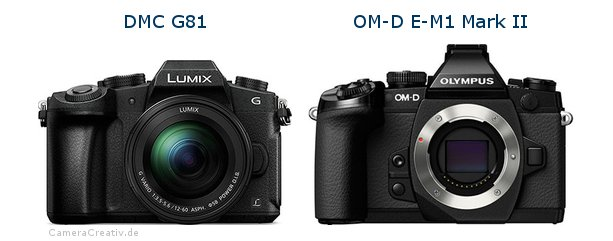 Panasonic dmc g 81 vs Olympus om d e m1 mark ii
