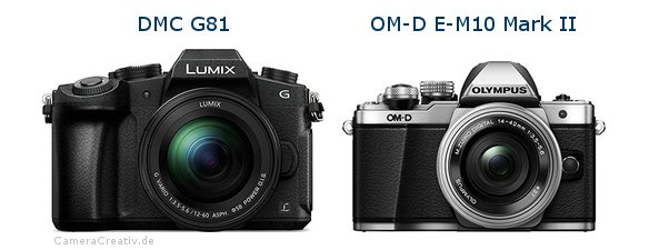 Panasonic dmc g 81 vs Olympus om d e m10 mark ii