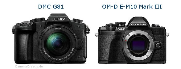 Panasonic dmc g 81 vs Olympus om d e m10 mark iii