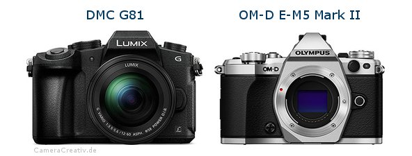 Panasonic dmc g 81 vs Olympus om d e m5 mark ii