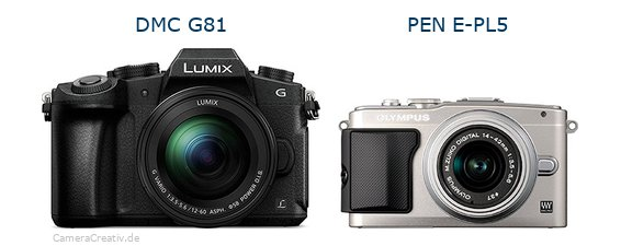 Panasonic dmc g 81 vs Olympus pen e pl5