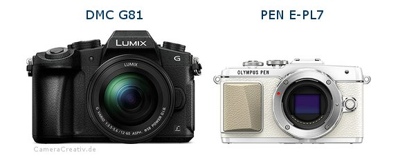 Panasonic dmc g 81 vs Olympus pen e pl7