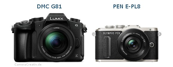 Panasonic dmc g 81 vs Olympus pen e pl8