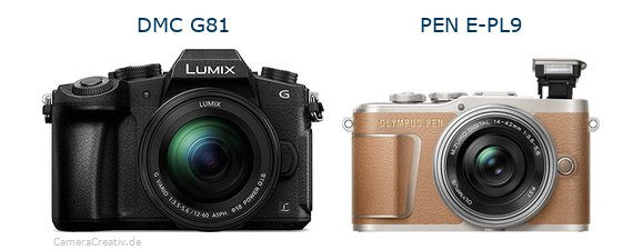 Panasonic dmc g 81 vs Olympus pen e pl9