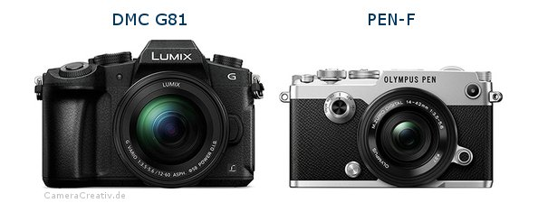 Panasonic dmc g 81 vs Olympus pen f