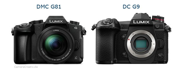 Panasonic dmc g 81 vs Panasonic dc g9