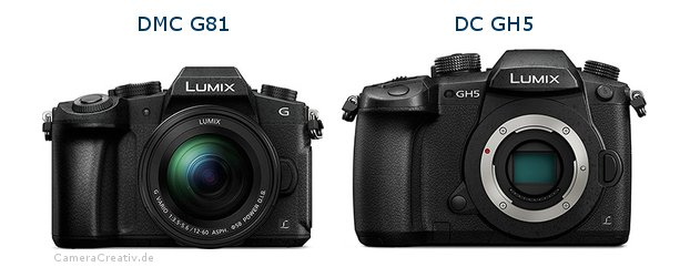 Panasonic dmc g 81 vs Panasonic dc gh 5
