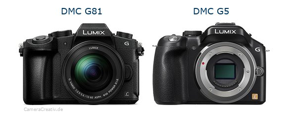 Panasonic dmc g 81 vs Panasonic dmc g5