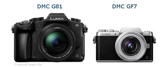 Panasonic dmc g 81 vs Panasonic dmc gf 7