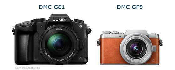 Panasonic dmc g 81 vs Panasonic dmc gf 8
