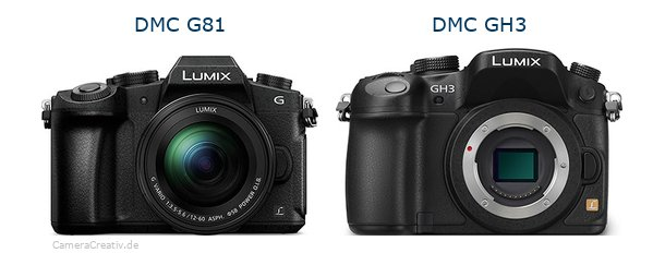 Panasonic dmc g 81 vs Panasonic dmc gh3