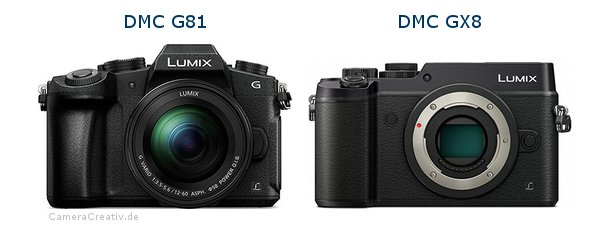Panasonic dmc g 81 vs Panasonic dmc gx 8