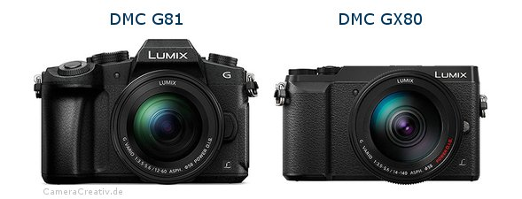 Panasonic dmc g 81 vs Panasonic dmc gx 80