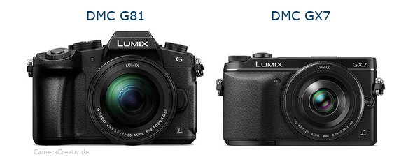Panasonic dmc g 81 vs Panasonic dmc gx7