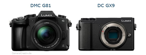 Panasonic dmc g 81 vs Panasonic lumix gx 9