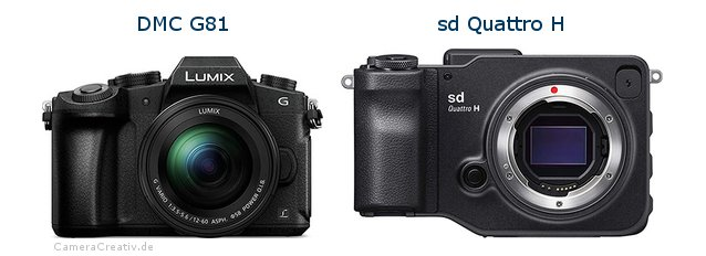 Panasonic dmc g 81 vs Sigma sd quattro h
