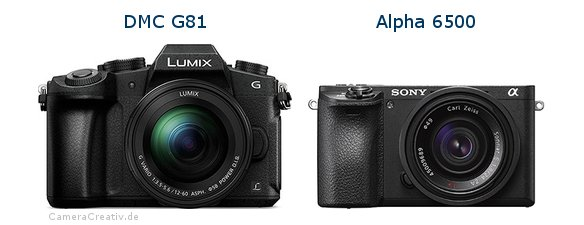 Panasonic dmc g 81 vs Sony alpha 6500