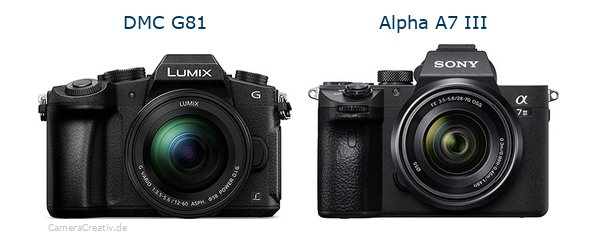 Panasonic dmc g 81 vs Sony alpha a7 iii