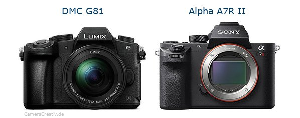 Panasonic dmc g 81 vs Sony alpha a7r ii