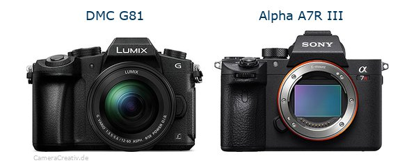 Panasonic dmc g 81 vs Sony alpha a7r iii