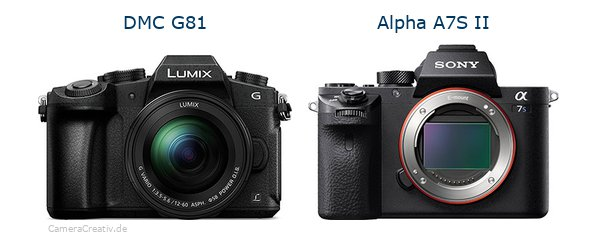 Panasonic dmc g 81 vs Sony alpha a7s ii