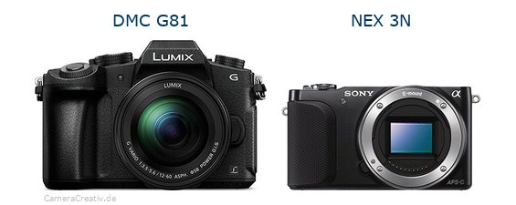 Panasonic dmc g 81 vs Sony nex 3n