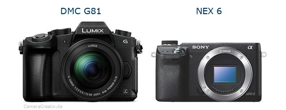 Panasonic dmc g 81 vs Sony nex 6