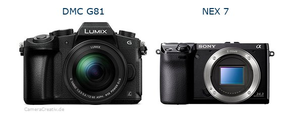 Panasonic dmc g 81 vs Sony nex 7