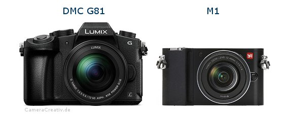 Panasonic dmc g 81 vs Yi m1