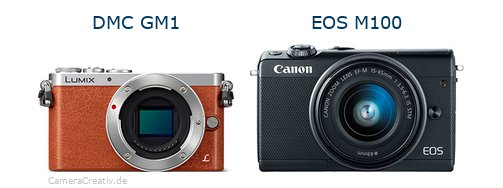 Panasonic dmc gm 1 vs Canon eos m100