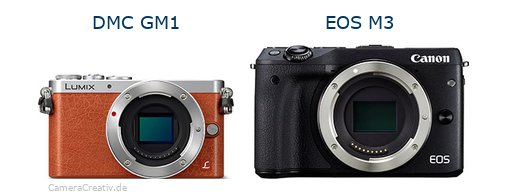 Panasonic dmc gm 1 vs Canon eos m3