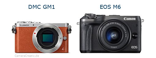 Panasonic dmc gm 1 vs Canon eos m6
