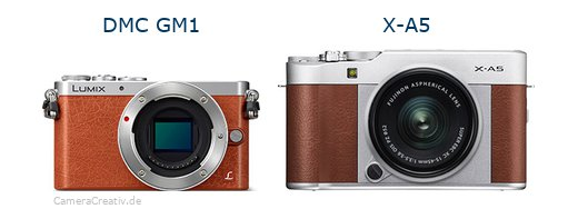 Panasonic dmc gm 1 vs Fujifilm x a5