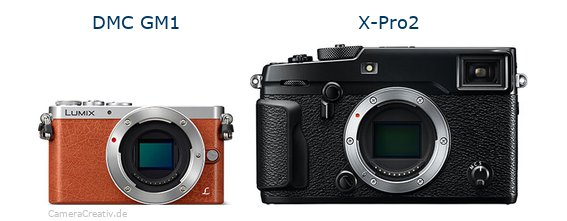 Panasonic dmc gm 1 vs Fujifilm x pro2