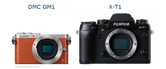 Panasonic dmc gm 1 vs Fujifilm x t1