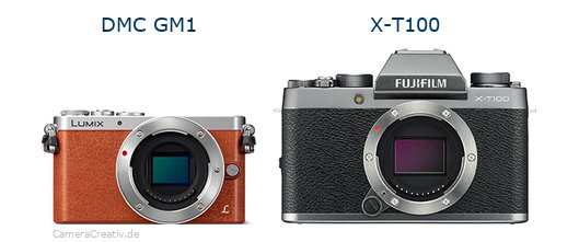 Panasonic dmc gm 1 vs Fujifilm x t100