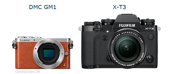 Panasonic dmc gm 1 vs Fujifilm x t3