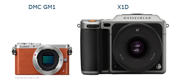 Panasonic dmc gm 1 vs Hasselblad x1d