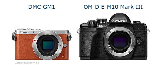 Panasonic dmc gm 1 vs Olympus om d e m10 mark iii