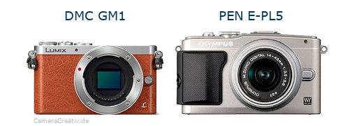 Panasonic dmc gm 1 vs Olympus pen e pl5