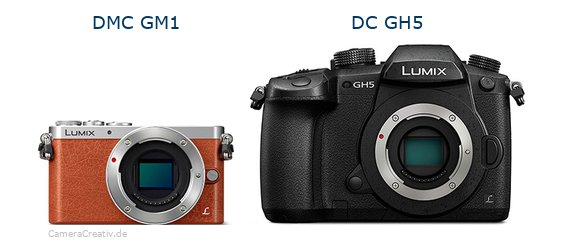 Panasonic dmc gm 1 vs Panasonic dc gh 5