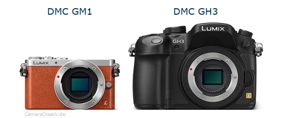 Panasonic dmc gm 1 vs Panasonic dmc gh3