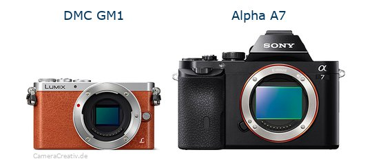 Panasonic dmc gm 1 vs Sony alpha a7