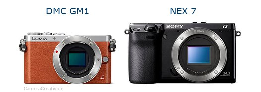 Panasonic dmc gm 1 vs Sony nex 7