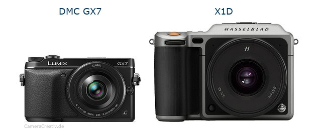 Panasonic dmc gx7 vs Hasselblad x1d