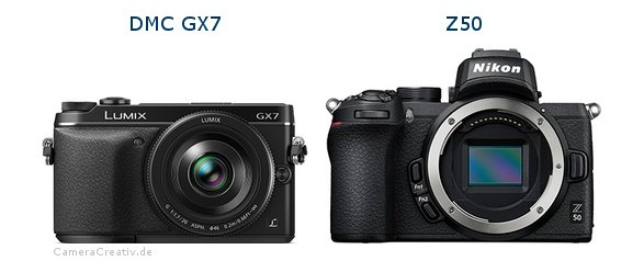 Panasonic dmc gx7 vs Nikon z50
