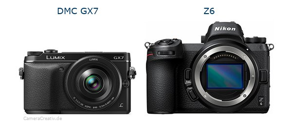 Panasonic dmc gx7 vs Nikon z6